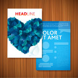 BLUE LOVE HEART Nature rainbow leaves concept card Stock Photos