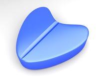 Blue Love Pill Stock Photography