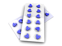 Blue Love Pills Stock Photography