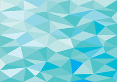 Blue low poly abstract background. Beach colour tone low polygonal graphic illustration vector background Royalty Free Stock Photography