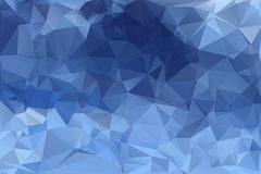 Blue low poly background. Blue abstract low poly geometric background Royalty Free Stock Image