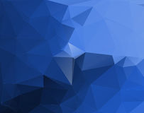 Blue low poly background. Stock Images