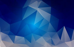 Blue low poly background Royalty Free Stock Photography