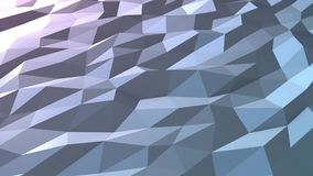 Blue low poly background loop in perspective stock video footage