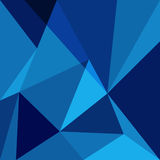 Blue low poly design element background Royalty Free Stock Image