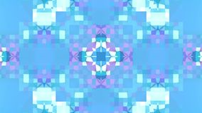 Blue low poly geometric abstract background as a moving stained glass or kaleidoscope in 4k. Loop 3d animation, seamless. Low poly geometric abstract background stock video footage
