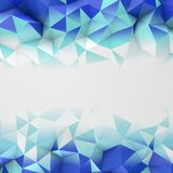 Blue low poly geometric surface abstract 3D rendering. Blue low poly geometric surface. Triangular polygons shape. Computer generated abstract 3D rendering stock illustration