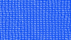 Blue low poly transforming surface as dream background. Blue polygonal geometric transforming environment or pulsating stock footage