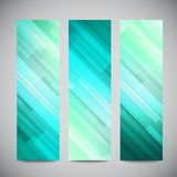 Blue low poly vector vertical banners set with Stock Images