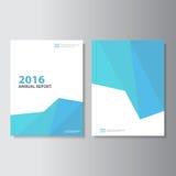 Blue low polygon presentation templates Infographic elements flat design set for brochure flyer leaflet marketing Stock Photo
