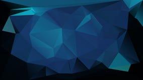 Blue low polygonal texture futuristic vector Stock Photo