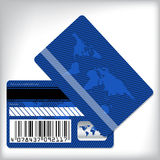 Blue loyalty card design Stock Photo