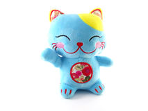 Blue lucky cat Stock Photography