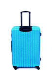 Blue luggage isolated. On white background stock photos