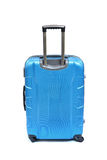 Blue luggage isolated stock photo
