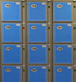 Blue Luggage Lockers Stock Photos