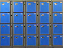 Blue Luggage Lockers Royalty Free Stock Images