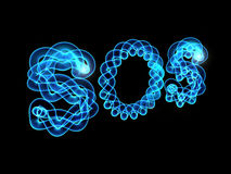 Blue luminescence Royalty Free Stock Image