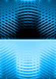 Blue luminescence Stock Images