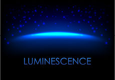 Blue luminescence abstract background. With empty space for your design. Galaxy or universe  illustration with stardust Royalty Free Stock Images