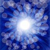 Blue luminous background. Illustration for your design royalty free illustration
