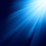 Blue luminous rays. EPS 8 Royalty Free Stock Photos
