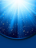 Blue luminous rays. EPS 8 Stock Images