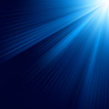 Blue luminous rays. EPS 8. Vector file included Royalty Free Stock Images