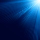 Blue luminous rays. EPS 10 Royalty Free Stock Image