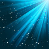 Blue luminous rays. EPS 8. Vector file included Stock Photography