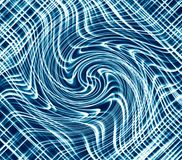 Blue luminous wavy background, abstract curved lines digital backdrop.  vector illustration