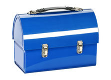 Blue lunch bag Royalty Free Stock Photography