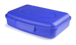Blue lunch box Royalty Free Stock Photo