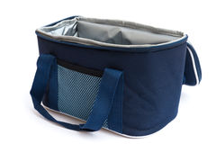 Blue lunch pack carrier Royalty Free Stock Images