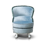 Blue luxurious armchair. Isolated on white background Royalty Free Stock Photo