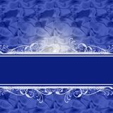 Blue luxurious background with place for text Stock Images