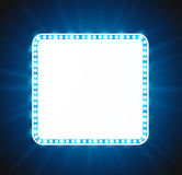 Blue luxurious retro banner Royalty Free Stock Image