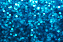 Blue luxury bokeh background Stock Images