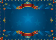 Blue luxury horizontal background Stock Images