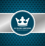 Blue Luxury invitation Royalty Free Stock Photography
