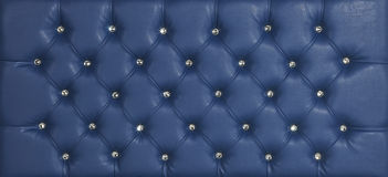 Blue luxury leather diamond studded background Royalty Free Stock Images