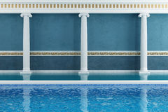 Blue luxury resort Stock Photos