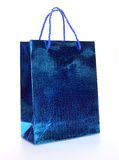Blue luxury shopping bag Royalty Free Stock Photo