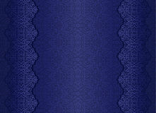 Blue luxury vintage background with floral ornamen Stock Photo
