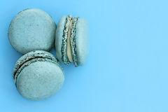 Blue Macarons Royalty Free Stock Photography