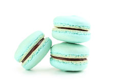 Blue macarons Royalty Free Stock Images