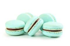 Blue macarons Stock Photos