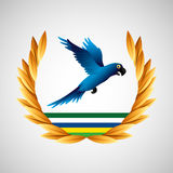Blue macaw brazil olympic games emblem Royalty Free Stock Photography