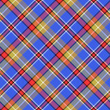 Blue madras bright color tartan seamless fabric texture Royalty Free Stock Photography