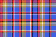 Blue madras check plaid pixeled seamless texture Stock Images